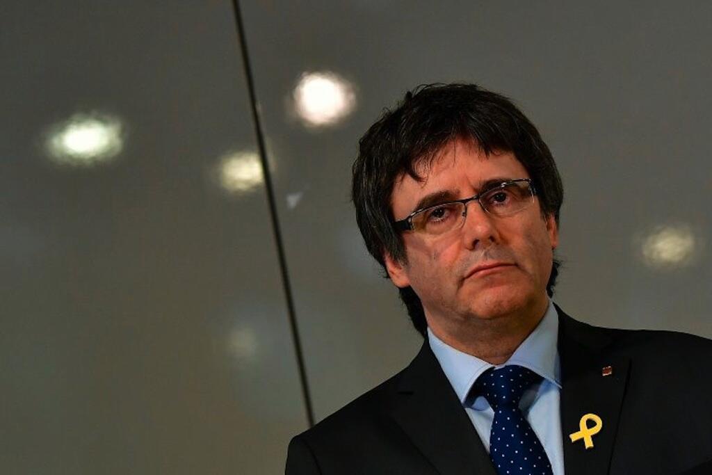 Kiongozi wa zamani wa Catalonia Carles Puigdemont, Mei 15, 2018 Berlin.