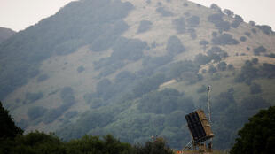 Dispositif anti-missile Dôme de fer, vu du territoire du Golan occupé par Israël, mai 2018.