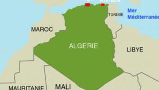 Annaba, point de départ de migrants algériens, est situé au nord-est du pays.