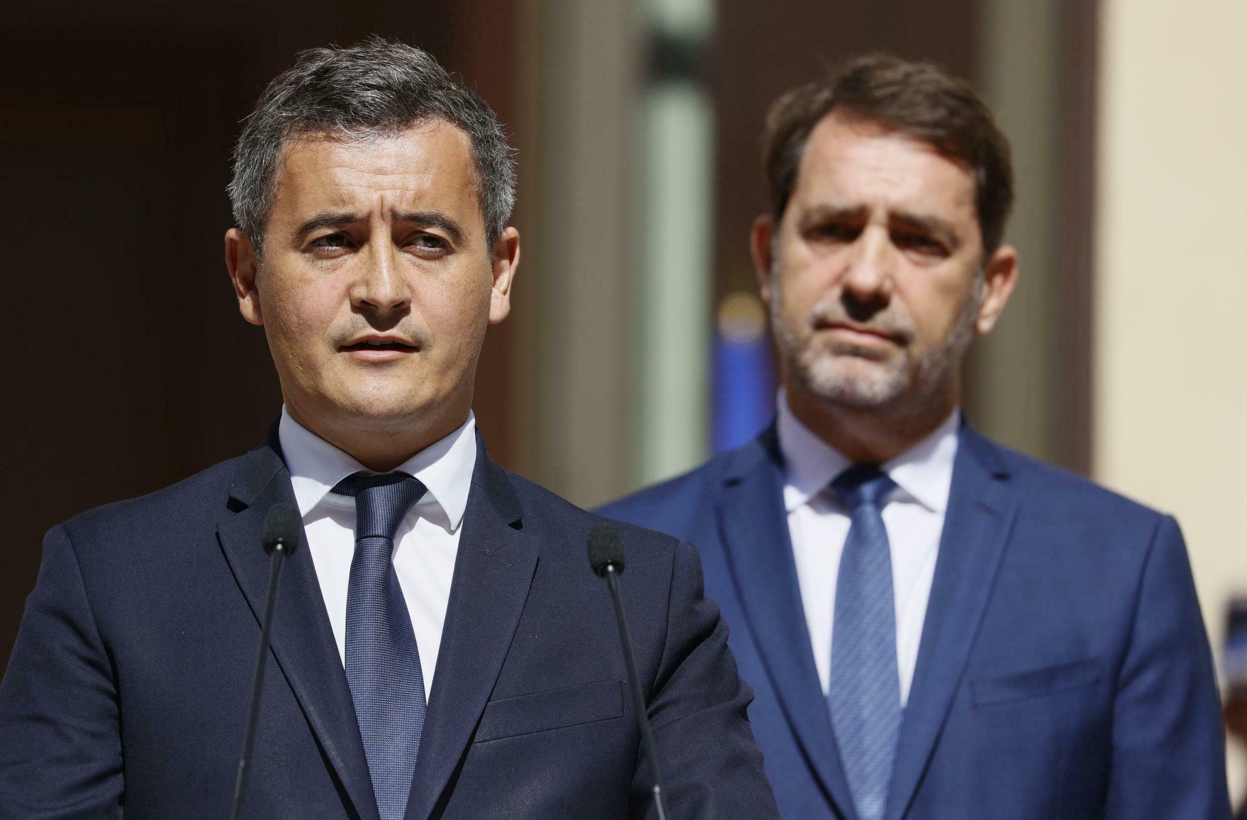 Gérald Darmanin (left) took over from Christophe Castaner as France's interior minister in July.
