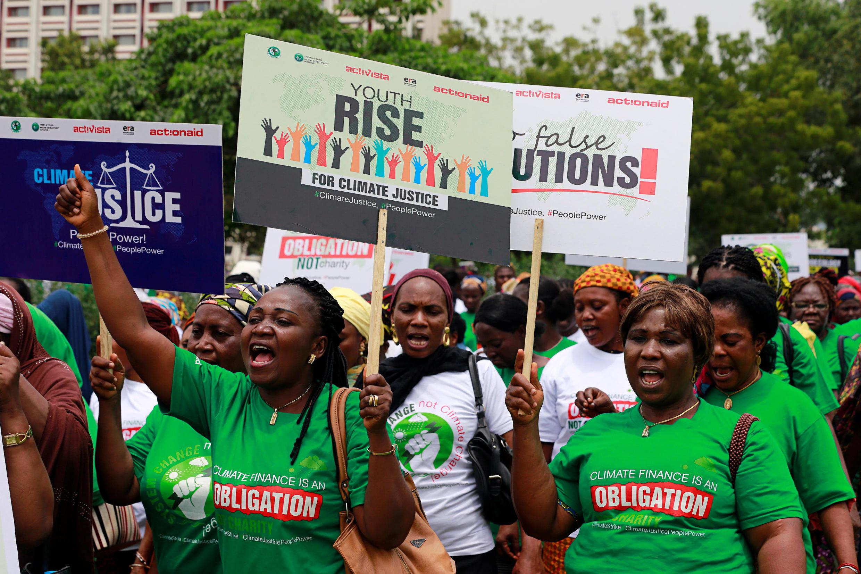 تظاهرات جهانی دانشآموزان برای مقابله با تغییرات اقلیمی در نیجریه