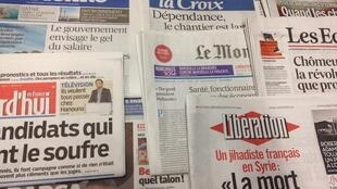 Primeiras páginas jornais franceses 13/02/2014