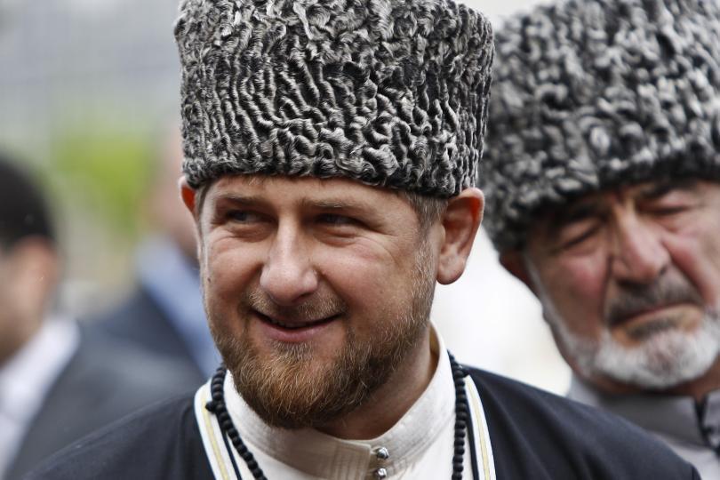 Tổng thống Tchetchenya, Ramzan Kadyrov, người bị tình nghi đứng sau vụ ám sát. Ảnh chụp tại Grozny, thủ phủ Tchetchenia, năm 2013.