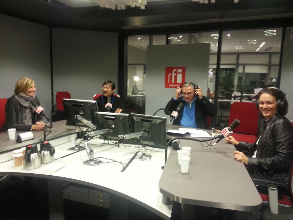 De gauche à droite : Marielle de Sarnez, Ziyi Chen, Daniel Desesquelle et Caroline Puel.