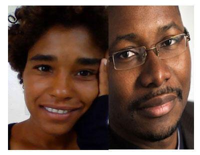 Dr Fatou Mbow (G) et Gilles Yabi (D).