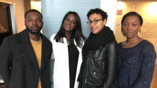 Hervé Sono NITU, ex-repat ; Diara Ndiaye ; Annabelle Bezo, repat ; Vanessa Yihp, future repat.