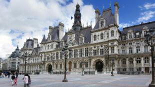L'Hôtel de Ville de Paris.