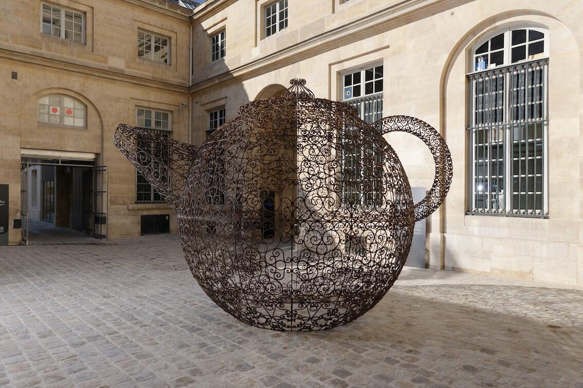 Joana Vasconcelos 'Teapot' (2010) as part of the Women House exhibition at the revamped Monnaie de Paris.