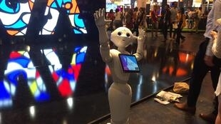 'Pepper' welcomes visitors to VivaTech 2017