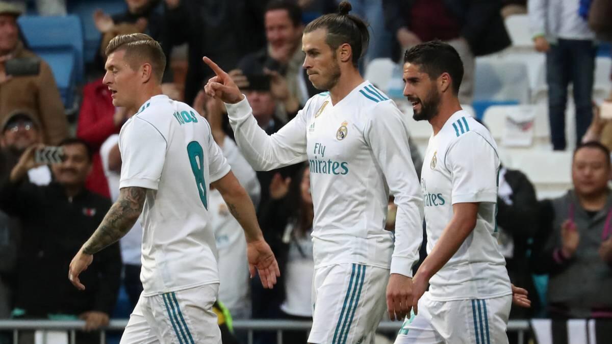 Wasu daga cikin manyan 'yan wasan Real Madrid Toni Kroos, Isco, da kuma Gareth Bale.