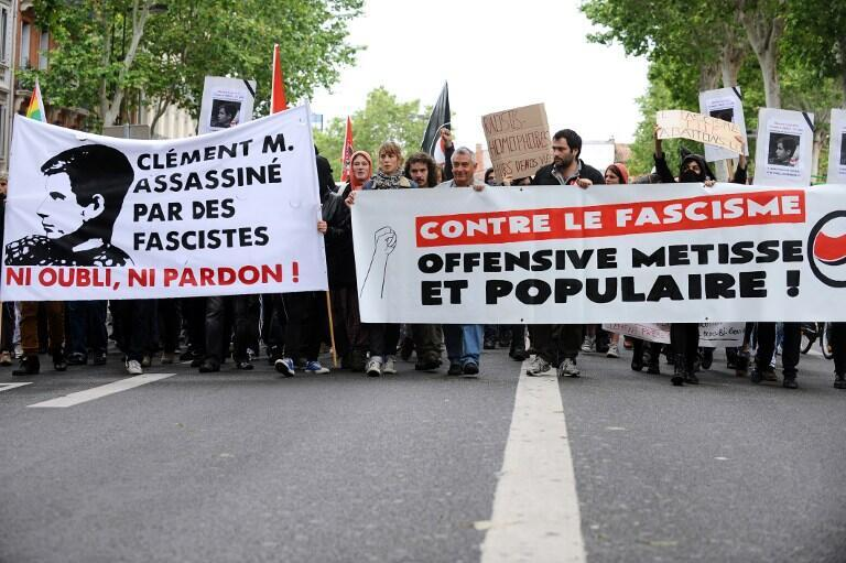 Demonstration in Toulouse to pay homage to Clément Méric, 8 June, 2013