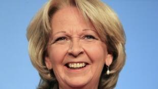 在北威州地方議會選舉中獲勝的社民黨州長克拉夫特(Hannelore Kraft) (2012年5月13日-星期日)