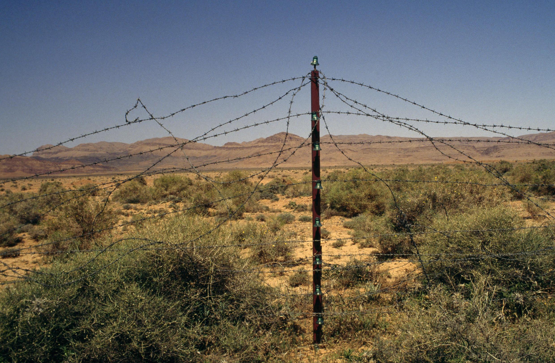 摩洛哥与阿尔及利亚接壤的荒凉的地区。
