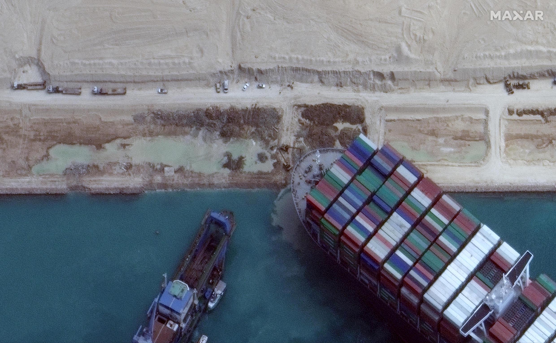 Le porte-conteneurs Ever Given a bloqué pendant plusieurs jours le canal de Suez fin mars.