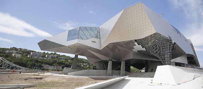 Fachada do Museu des Cofluences, recém-inaugurado em Lyon.