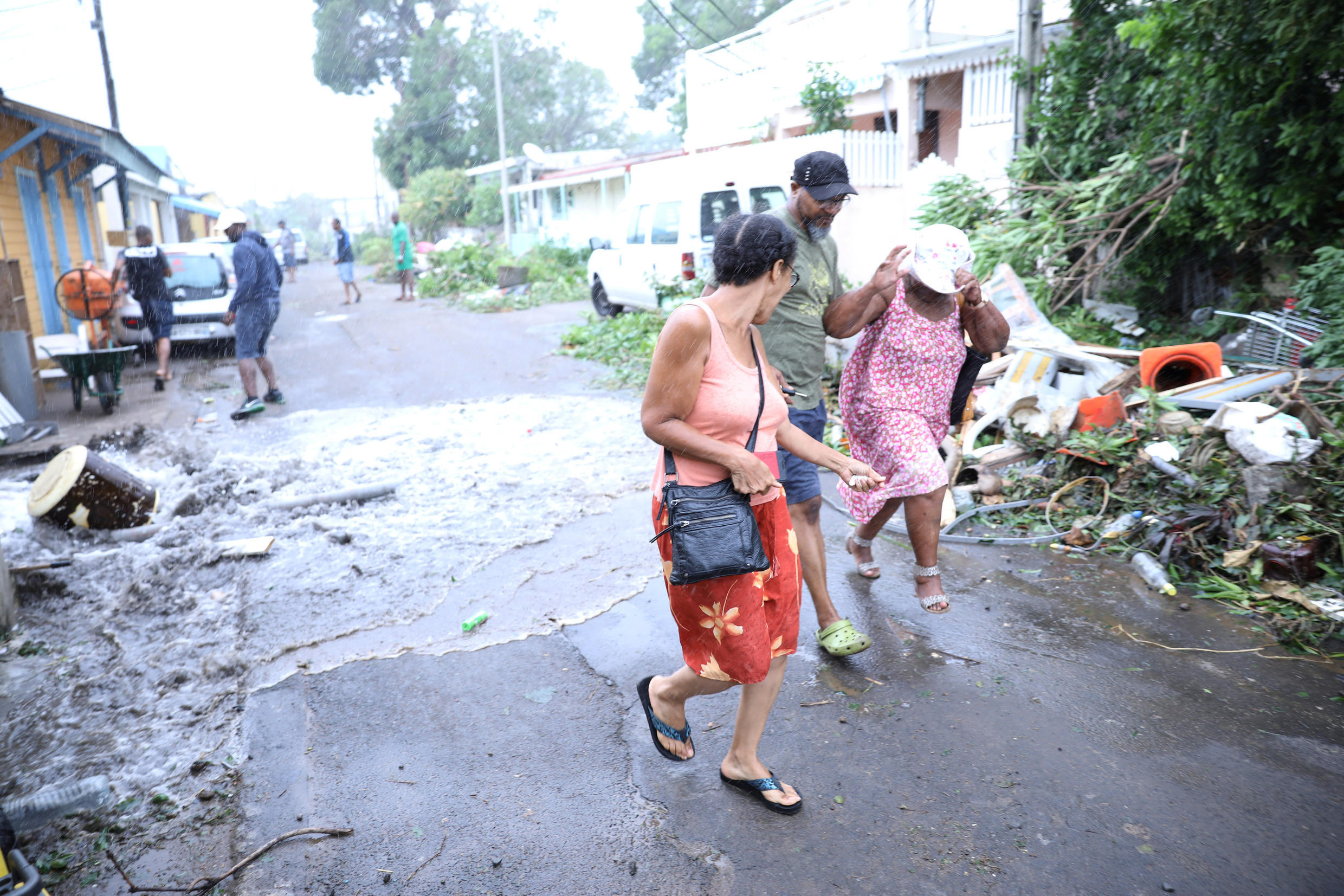 Basse-Terre in Guadeloupe after Hurricane Maria hit the island