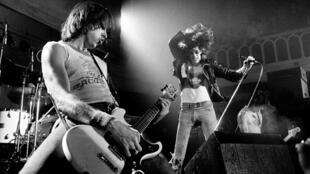Les Ramones en concert en 1977, aux Pays-Bas.