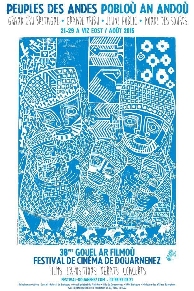 L'affiche de l'édition 2015 du Festival est l'oeuvre du plasticien bolivien Oscar Yana.