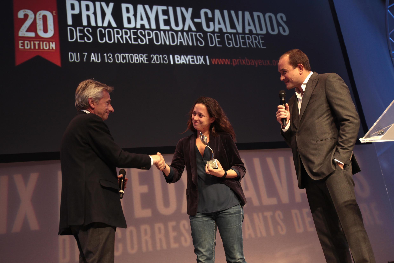 Sophie Nivelle-Cardinale a été récompensée en 2013 pour son reportage «Au coeur de la bataille d'Alep».