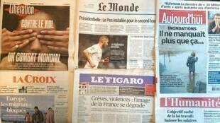 Diários franceses desta quarta-feira 1 de Junho.