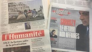 Diários franceses de 21 de Março de 2018.
