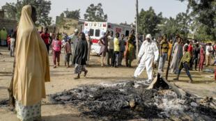 La ville de Maiduguri et ses alentours, au nord-est du Nigeria, sont régulièrement la cible d'attaques des ex-Boko Haram (ici après une attaque le 15 mars 2017).