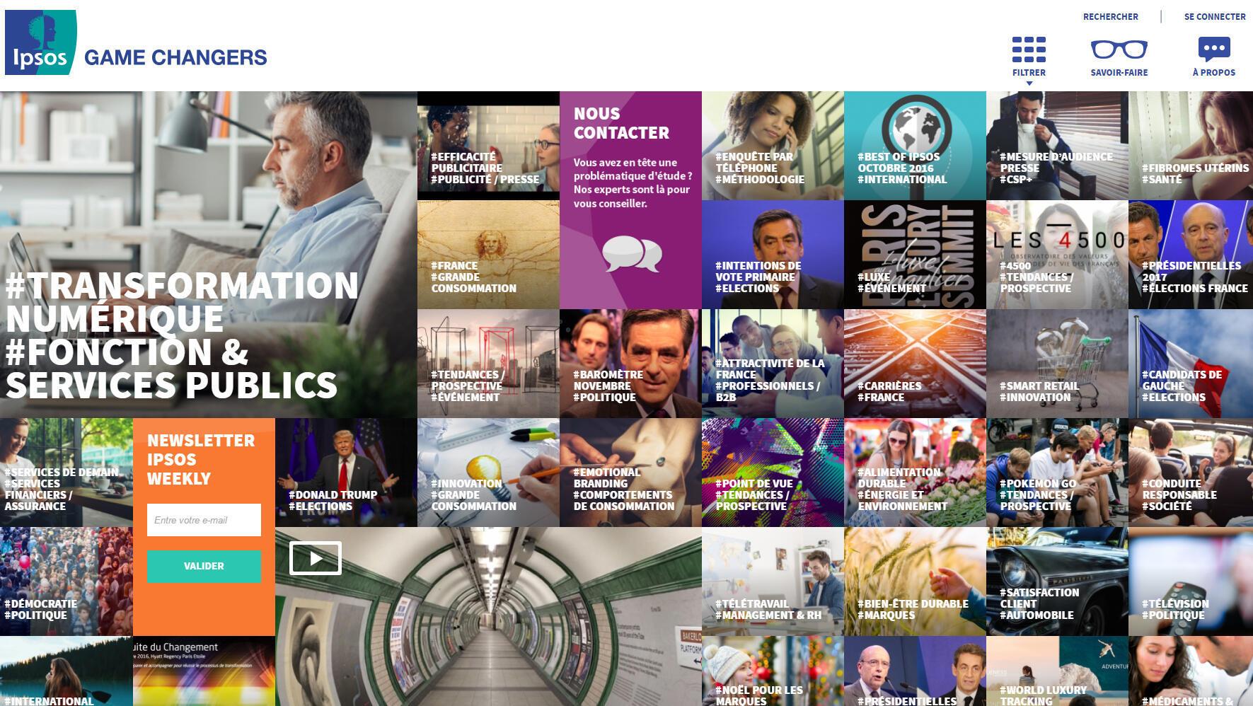 Henri Wallard, directeur général délégué d'IPSOS, évoque par exemple des algorithmes, les données « déstructurées », l'analyse des visages, des photos, des vidéos postées sur le web.