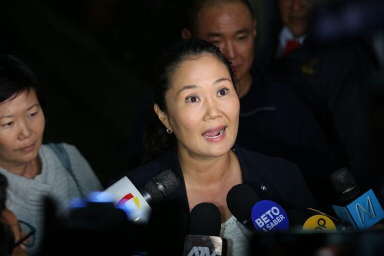 Keiko Fujimori, el 3 de octubre de 2018 (imagen de archivo).