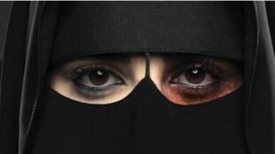Cartaz da primeira campanha lançada na Arábia Saudita para combater a violência contra as mulheres.