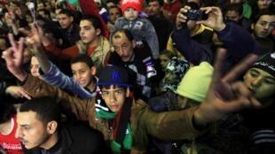 利比亚班加西的解放广场集会2013年2月15日