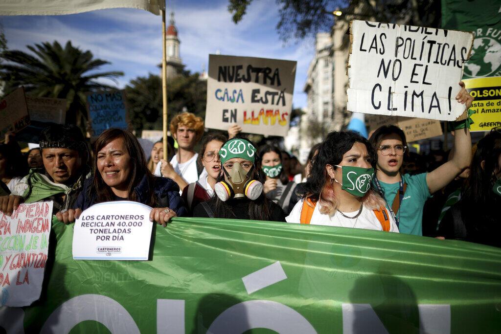 Protesto clima Argentina