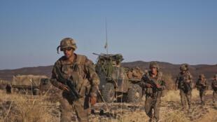 Soldats français dans la vallée de Terz au nord du Mali, le 21 mars 2013.