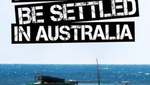"""""""Se você chegar aqui de barco e sem visto, não vai poder ficar na Austrália"""", diz o cartaz de advertência do governo do país."""