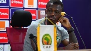 L'Ivoirien Jean Michaël Séri, en conférence de presse, avant le match face au Maroc, à la CAN 2019.