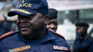 Le général Sylvano Kasongo, chef de la police de Kinshasa, ici le 30 juin 2019.