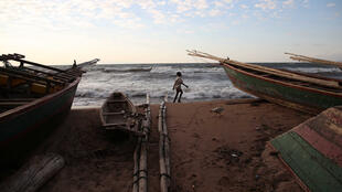 Boats on Lake Tanganyika.