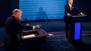 Donald Trump et Joe Biden lors du débat.
