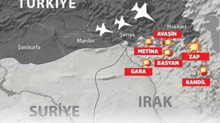 Operation turque contre le PKK au nord de l'Irak