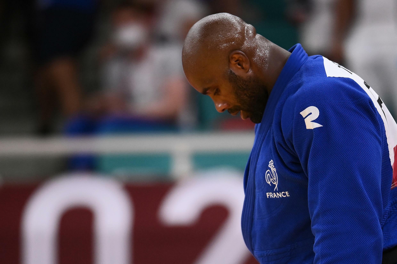 Teddy Riner après sa défaite en quart de finale du tournoi olympique de judo, le 30 juillet 2021 à Tokyo