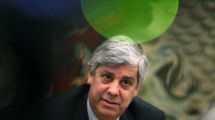 Chủ tịch nhóm Eurogroupe, chính trị gia Bồ Đào Nha Mario Centeno. Ảnh chụp ngày 28/02/2020 tại Lisboa.