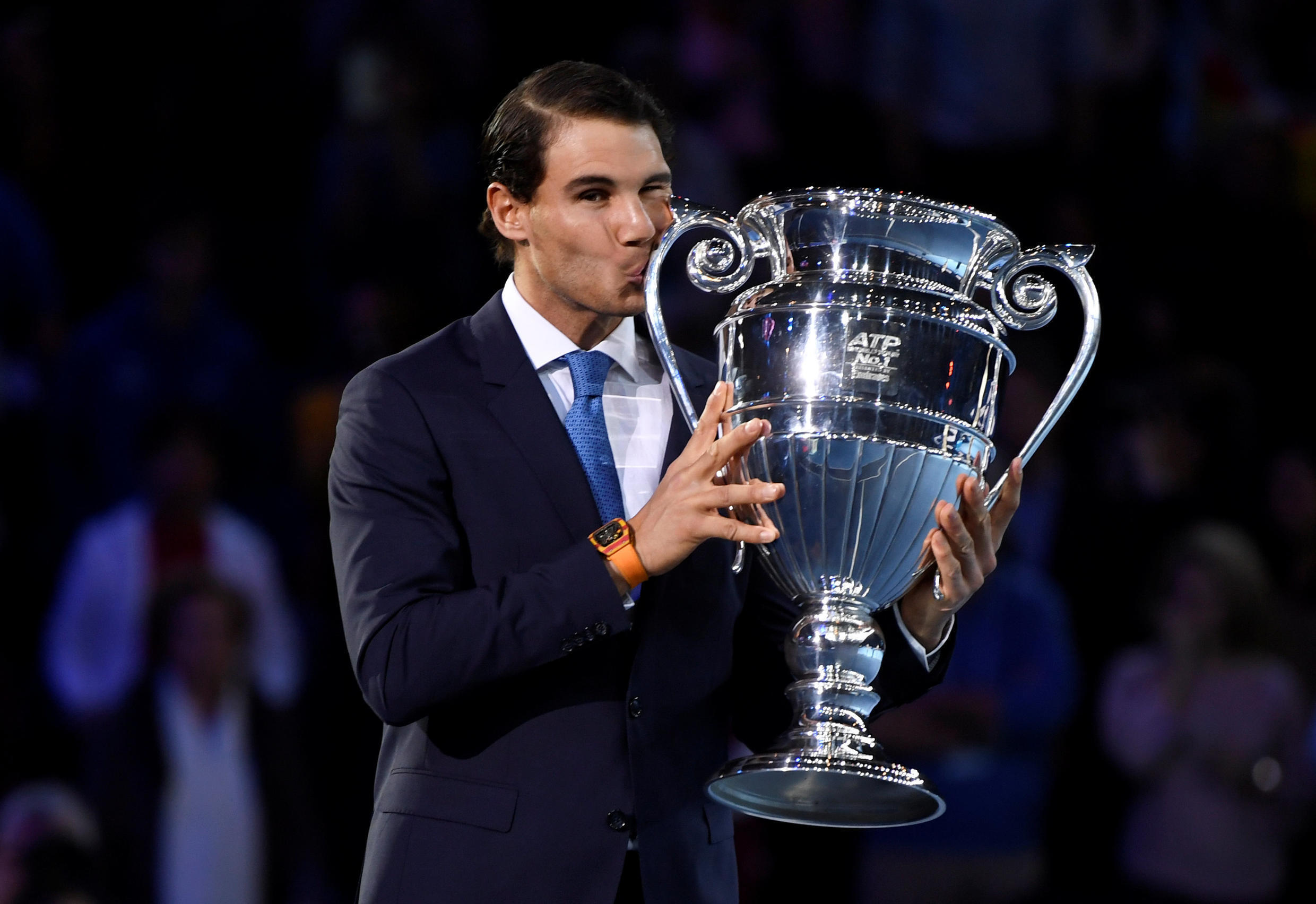 Rafael Nadal finished at the top of the rankings on 31 December in 2008, 2010, 2013 and 2017..