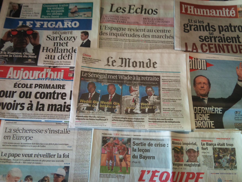 Diários franceses 26/03/2012