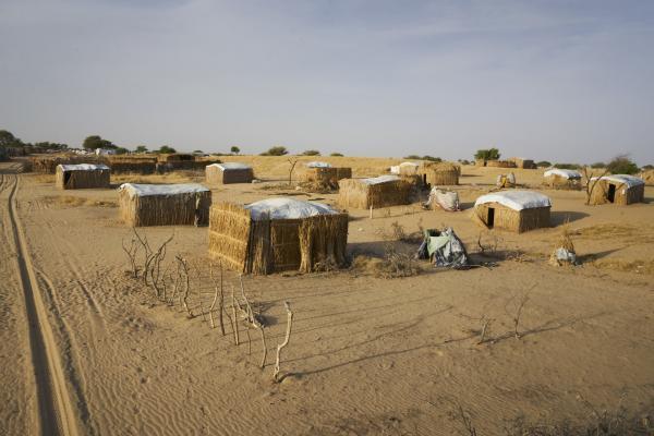 Vue générale du camp de réfugiés de Baga Sola au sud du Tchad, qui a accueilli plus de 10 000 déplacés du Nigeria, du Niger, du Cameroun et du Tchad, à cause de la menace de Boko Haram.