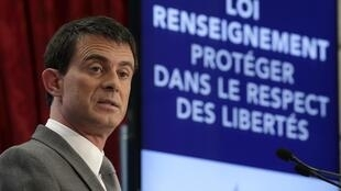 Pour le Premier ministre français Manuel Valls, «la menace terroriste à un niveau sans précédent» rend indispensable cette loi sur le renseignement.