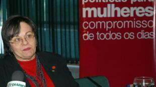 A farmacêutica Maria da Penha, que dá nome à lei contra a violência doméstica.