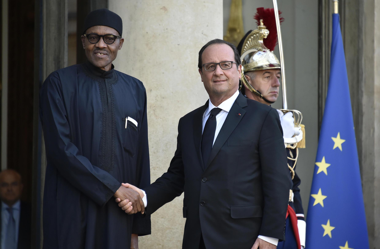 Shugaban Najeriya Muhammadu Buhari da takwaransa na Faransa, Francois Hollande
