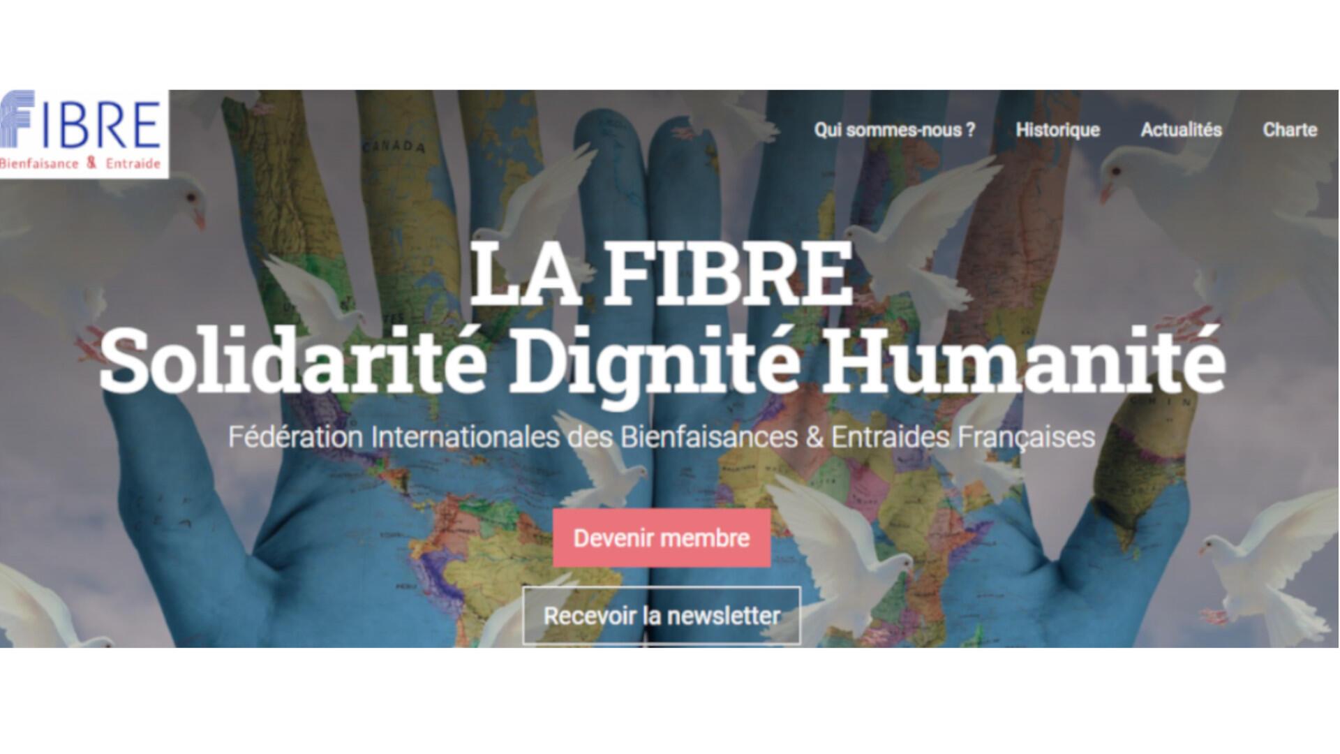La page d'accueil La Fibre Solidarité Dignité Humanité