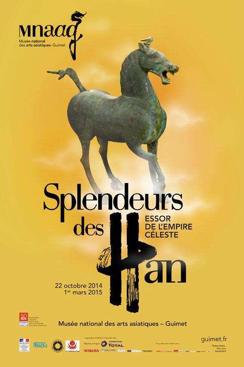 « Splendeurs des Han, essor de l'empire Céleste », du 22 octobre 2014 au 1er mars 2015.