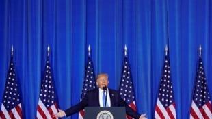 特朗普在大阪G20峰会的一次记者会上 2019年6月29日
