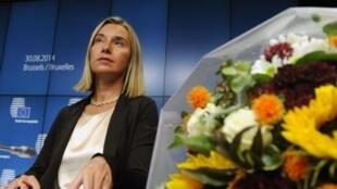 Federica Mogherini en Bruselas, agosto 2014.